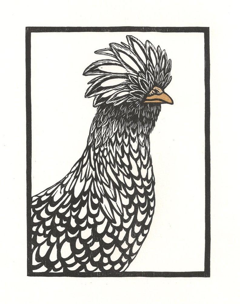 Image of Polish Chicken Woodcut