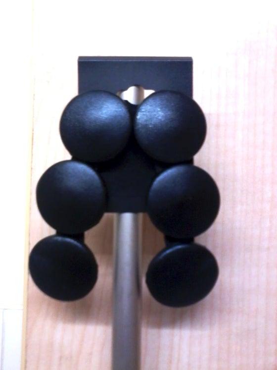 Image of Black Leather Dangle Stud Earrings