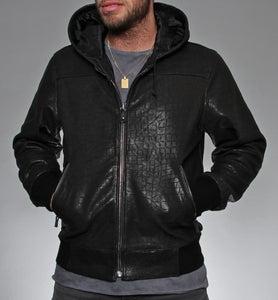 Image of BIGWIG Giacca da uomo in pelle nera (BLACK LEATHER JACKET)