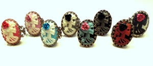 Image of Adjustable Skull Cameo Rings (unisex)