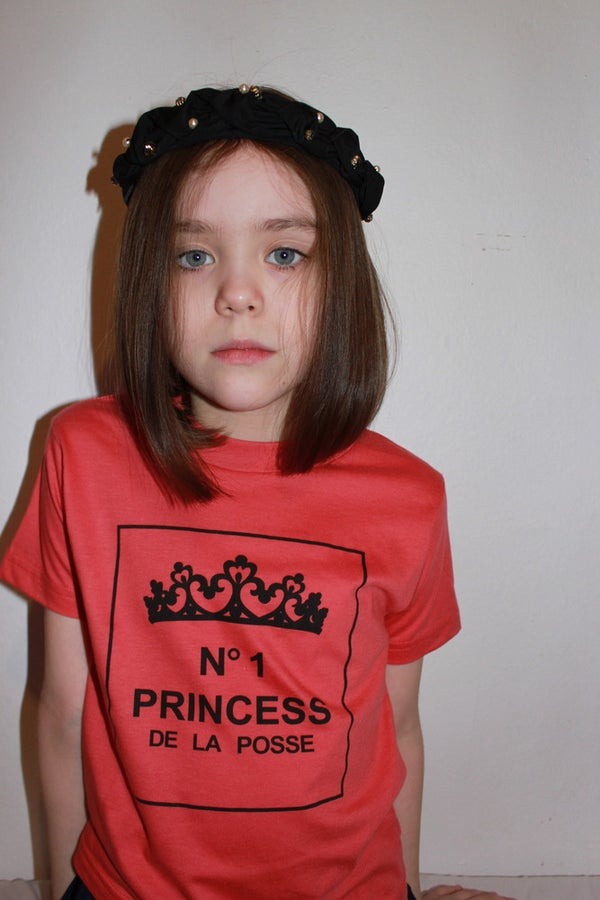 "Image of No. 1 Kids Tee ""Black/Tomato"""