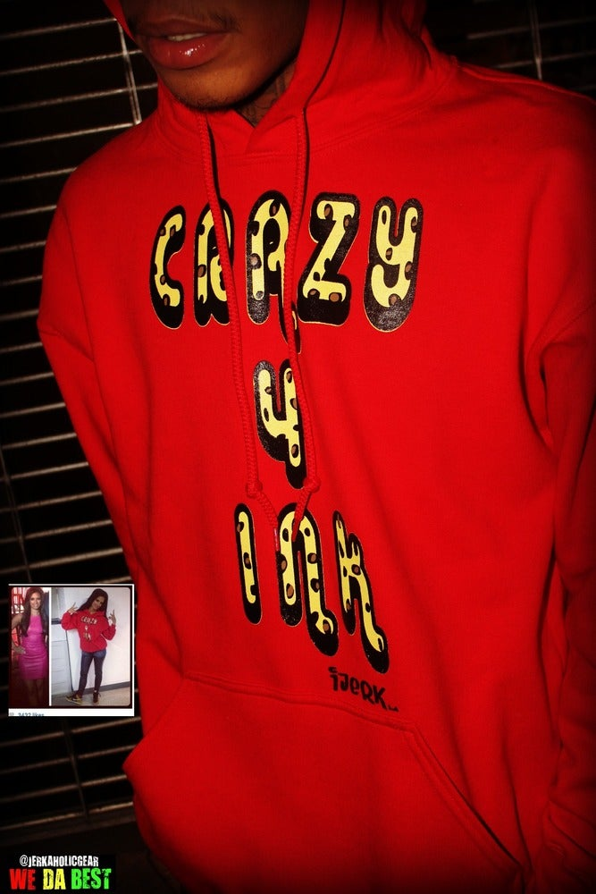 Image of LIMITED EXCLUSIVE ANIMAL PRINT  RED C4I HOODIE #FAMOUS