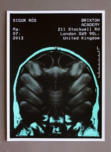 Image of Sigur Ros poster Brixton Academy 03/07/13