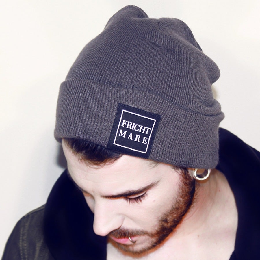 Image of FRIGHTMARE - Grey Patch Beanie