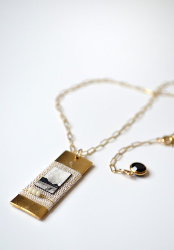"""Image of """"Genevieve"""" Fine Art Collage Necklace"""