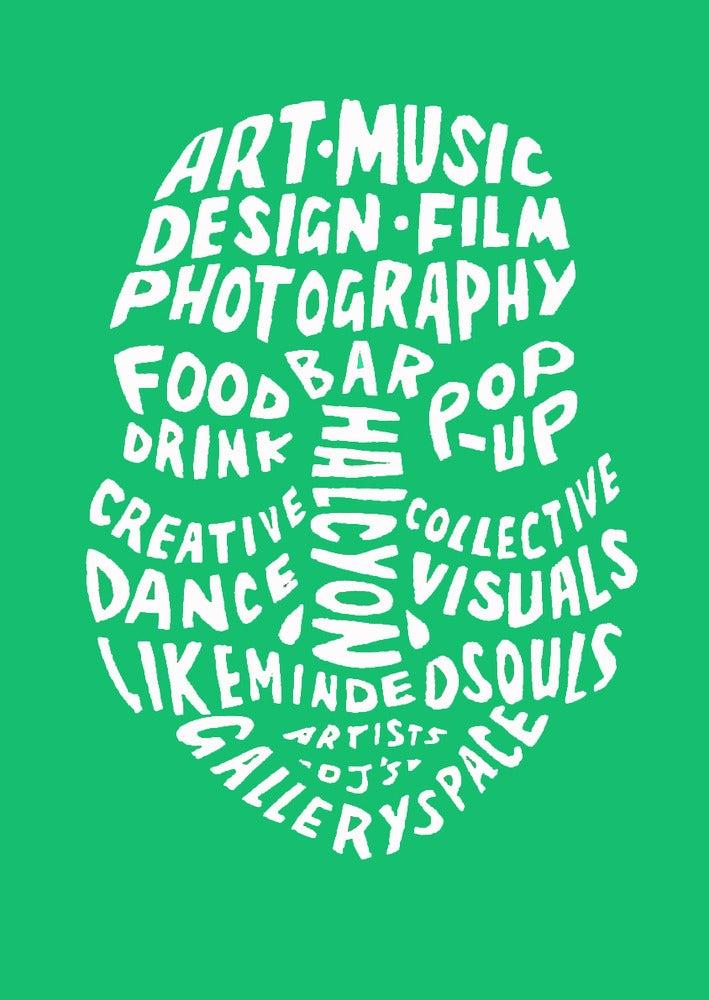 Image of Inkfolk kelly green logo tee
