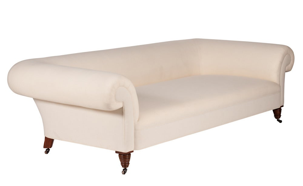 Image of Untufted Large Chesterfield Sofa