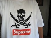 Image of Supreme Skull Tee.