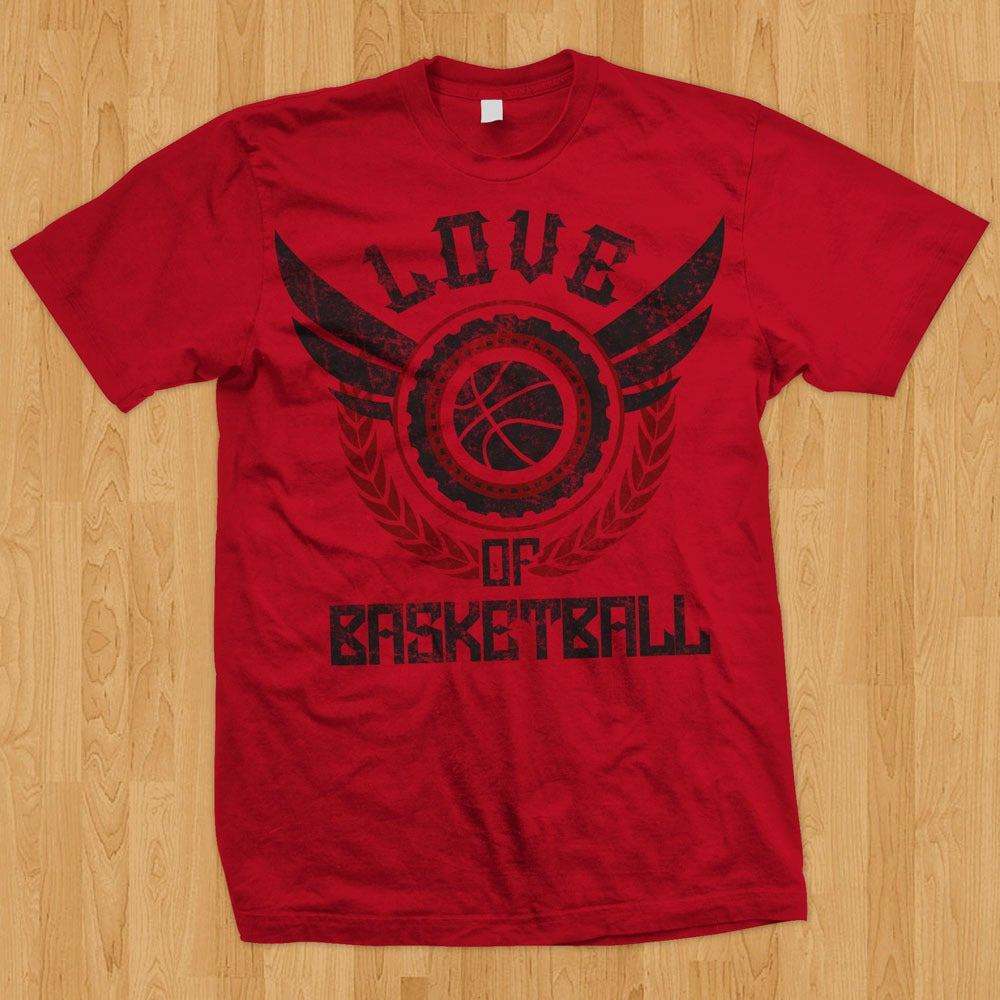 "Image of ""Love of Basketball"" Tee (Red)"