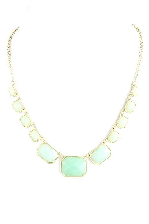Image of Ombre Gem Strand Necklace