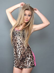 Image of Canotta Donna (Tank Leopard fuxia)