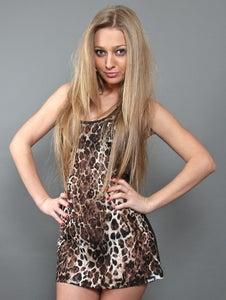 Image of Canotta Donna (Tank Leopard Black)