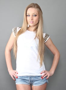 Image of T-shirt Woman White Leopard