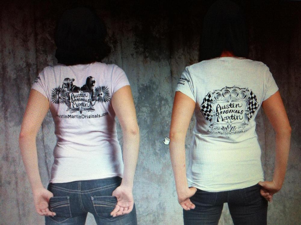 Image of women's v-neck fitted t's