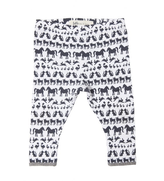 Image of LEGGINGS - animals on white