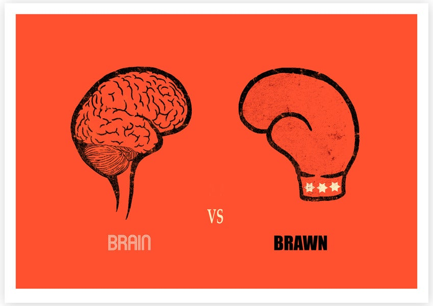 brain vs brawn Science has finally determined an answer to the age-old question of brains versus brawn a team of researchers from the university of cambridge pitted muscle against grey matter on a metabolic.