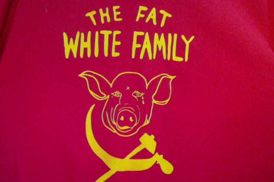 Image of Fat White Family T#1 designed by Robert Rubbish