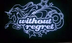 Image of Without Regret Ladies Unicorn T Shirt