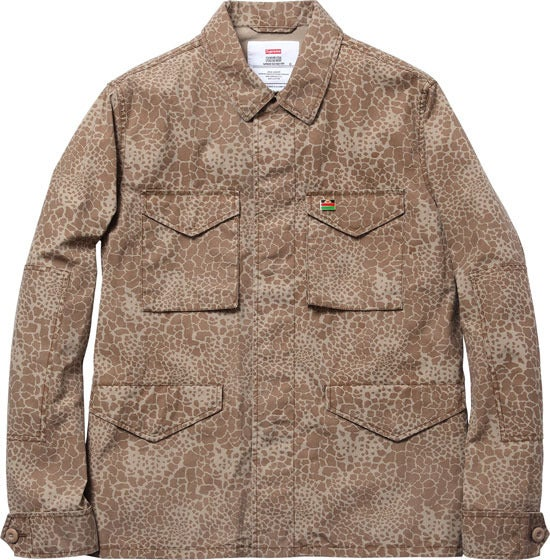 Image of Supreme Field Jacket Giraffe Camo Tan Medium