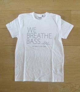 Image of We Breathe Bass T-Shirt Black on White