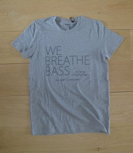 Image of We Breathe Bass T-Shirt - Black on Grey