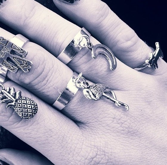 Image of Charm dangle rings