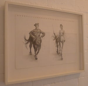 Image of Marching Centaurs- Original Drawing- Kirsty Whiten