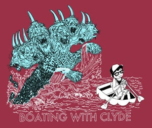 Image of Boating with Clyde Season One T-Shirt - RED