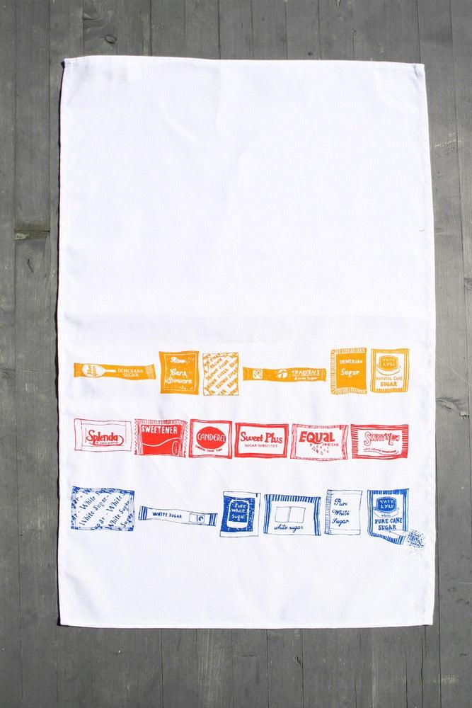Image of Sugar and Sweetner - Sachet Tea Towel
