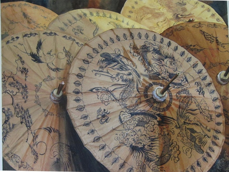 "Image of ""Thai Parasols"" giclee"
