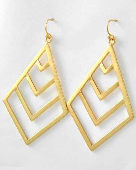 Image of Golden Triangle Earrings