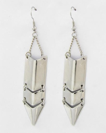 Image of Silver Shield Earrings