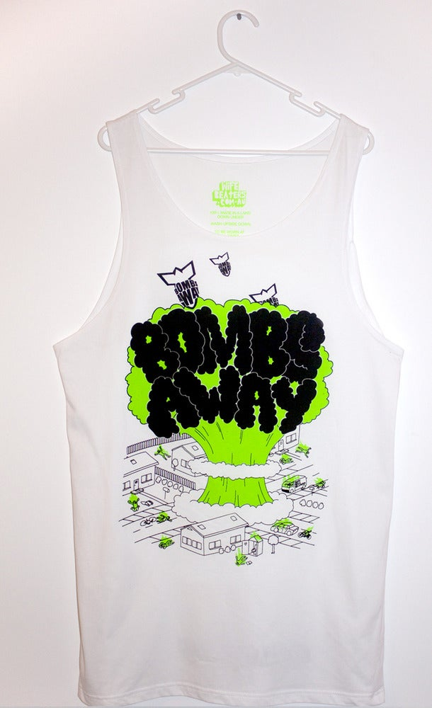 "Image of  Bombs Away Singlet - ""City Bomb"" white"