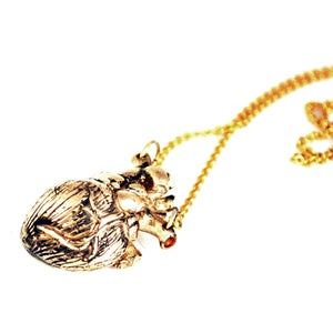 Image of Heart Necklace antique bronze
