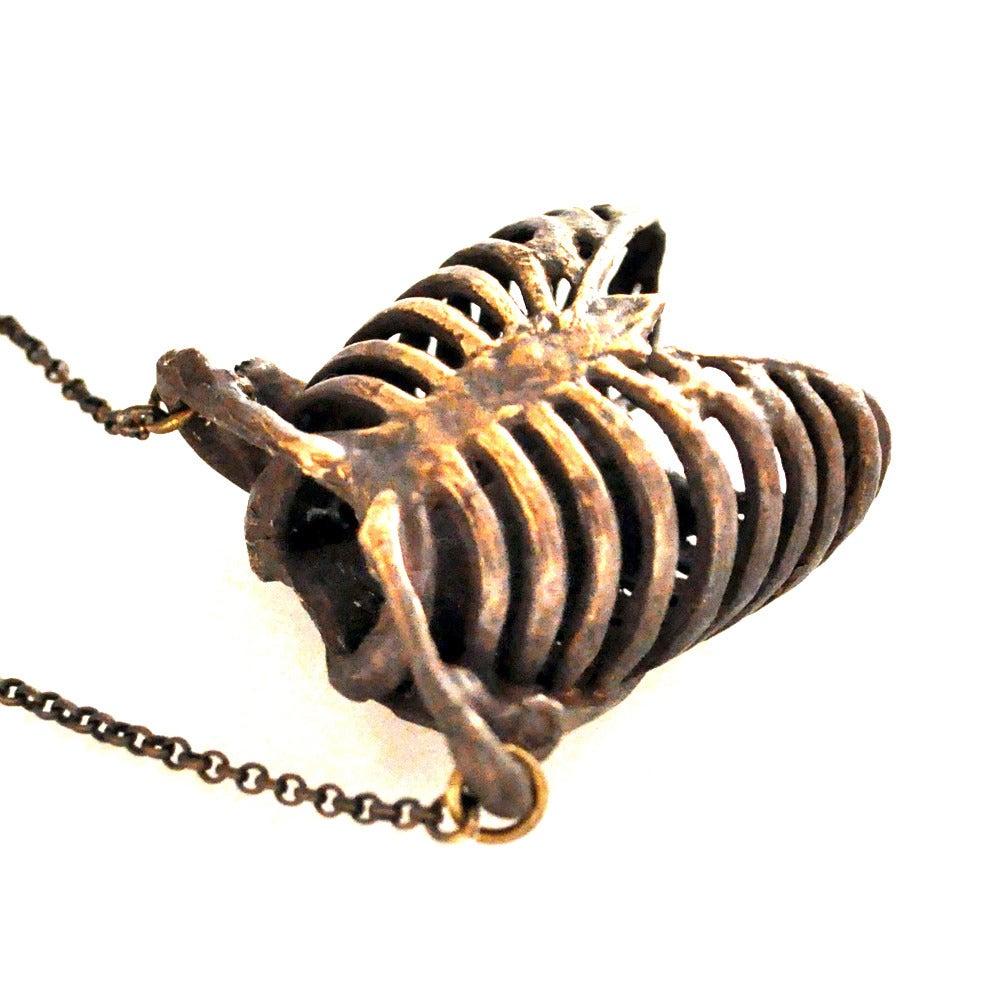 Image of Ribcage oxidized bronze