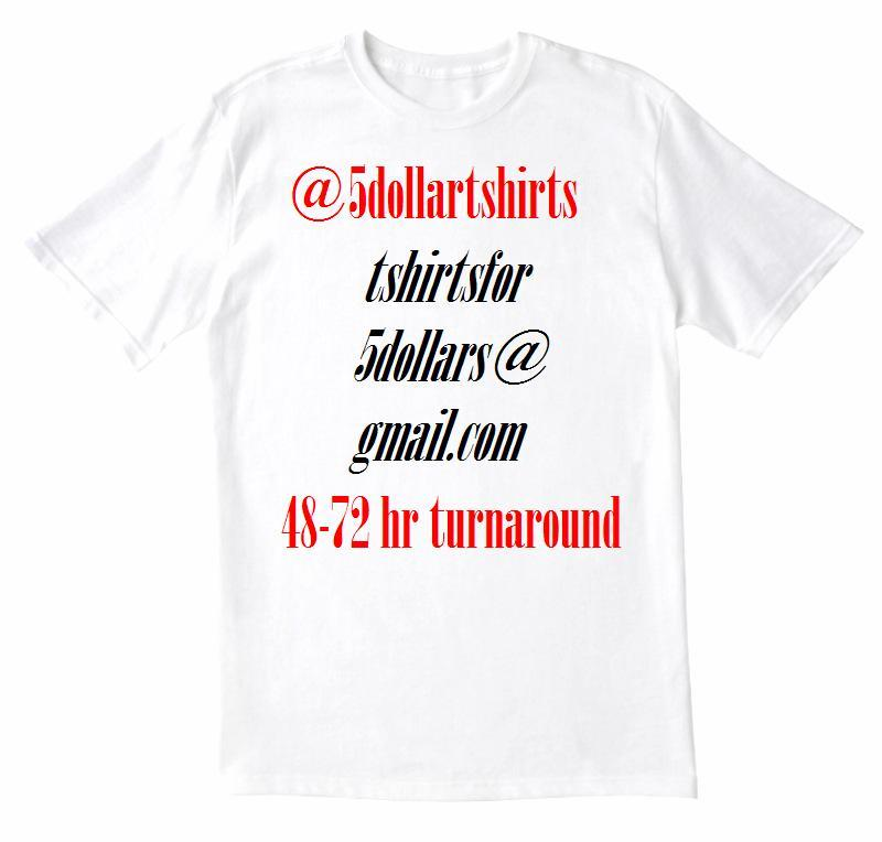 5 dollar t shirts non promo custom t shirts