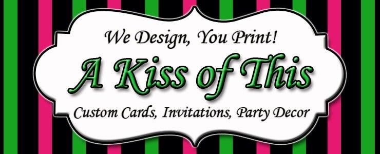 a kiss of this — barbie zebra print birthday invitation, Birthday invitations