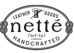 nette'.  leather good.