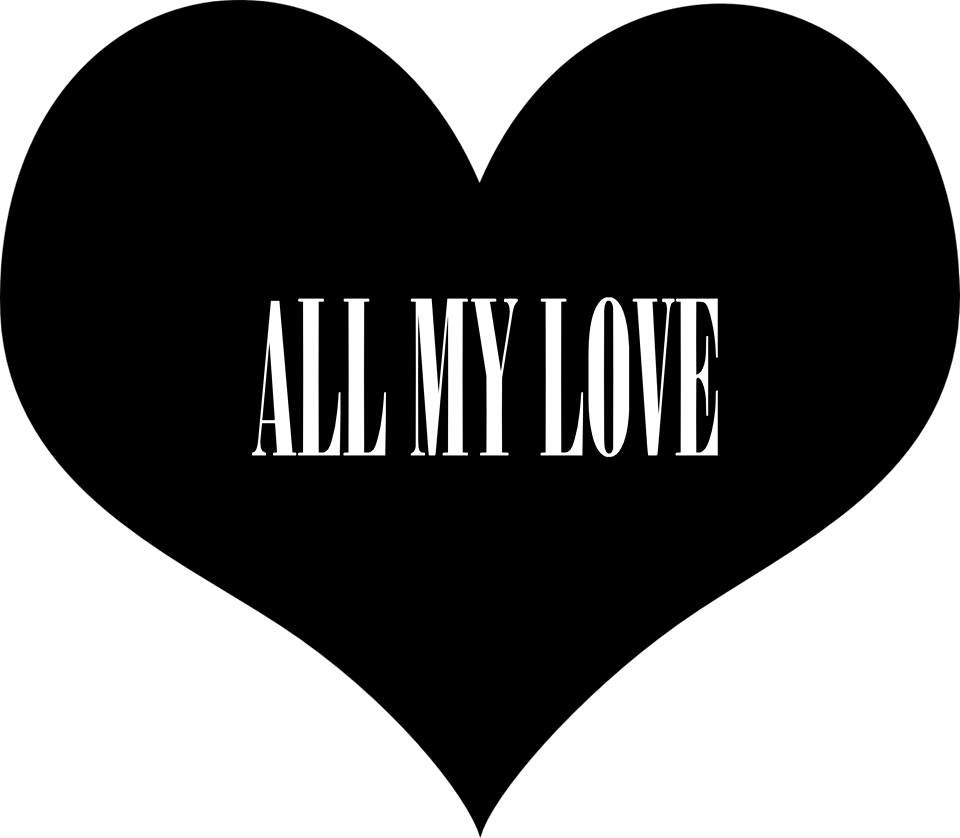 All My Love clothing — All My Love Black T-shirt