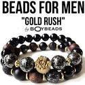 BOYBEADS-Handmade Natural Stone Beaded Bracelets for Men