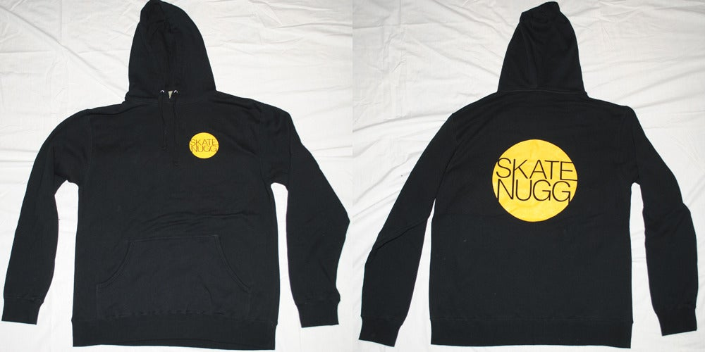 Skate Nugg u2014 Circle Logo Hoodie - Black