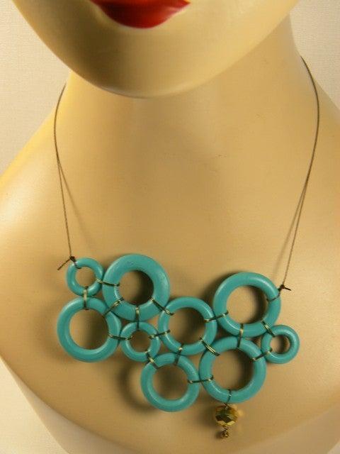 Image of Mondrian Necklace Bleu