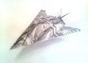 Image of F-117 Stealth Fighter sketch