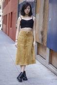 Image of Vintage Mustard Suede Skirt