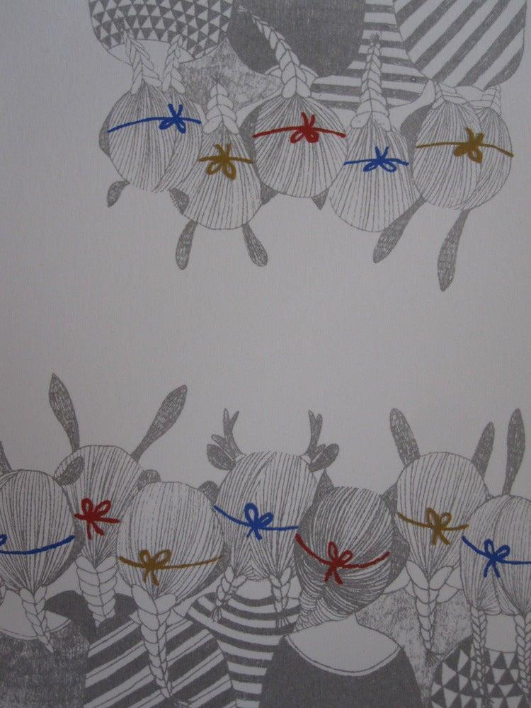 Image of Les enfants masqués de dos