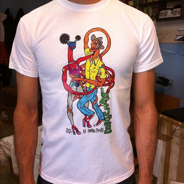 Image of LESBOA PARTY 2012 T-shirt (Colorful illustration by Pedro Zamith)