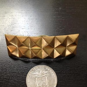 """Image of Gold """"Pyramids"""" adjustable ring."""