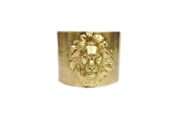 Image of Lion brass cuff