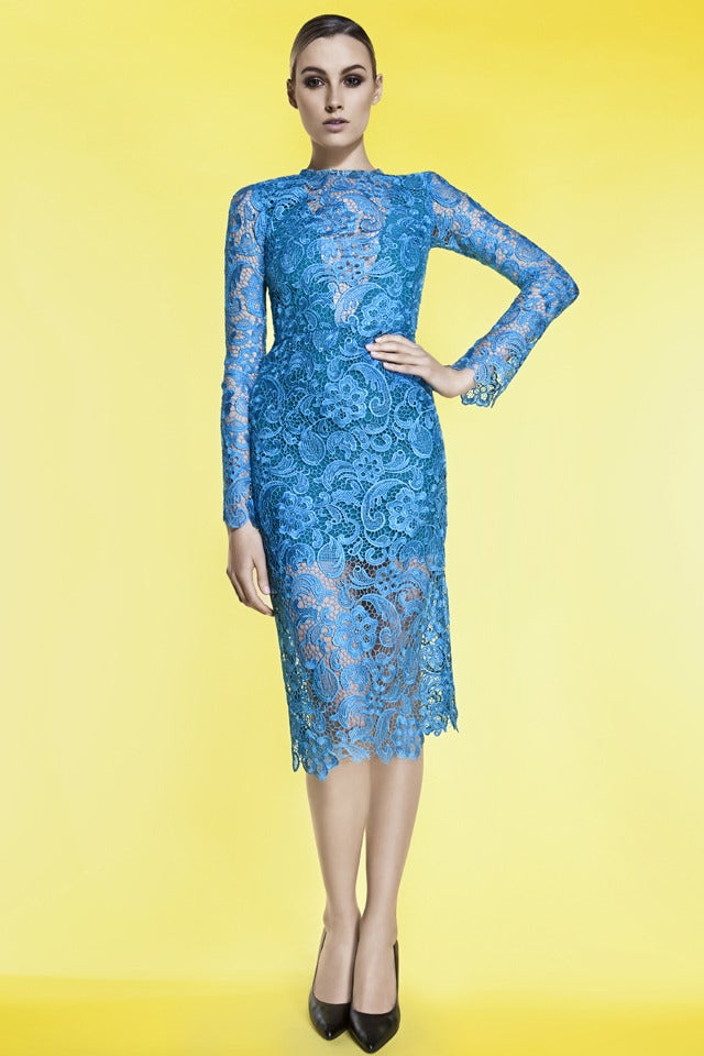 Image of FITTED LACE DRESS - WAS £495