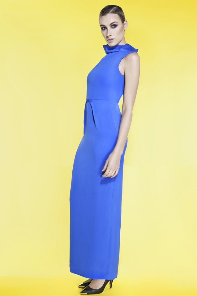 Image of SILK CREPE BACKLESS DRESS